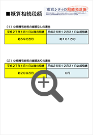 続税診断の提出書類見本03